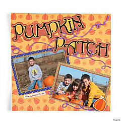 Pumpkin Patch Scrapbook Page Idea