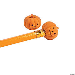 Pumpkin Pencil Top Erasers