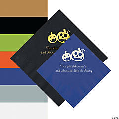 Pumpkin Personalized Napkins - Beverage or Luncheon