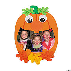Pumpkin Picture Frame Magnet Craft Kit