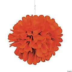 Pumpkin Pom-Pom Tissue Decorations