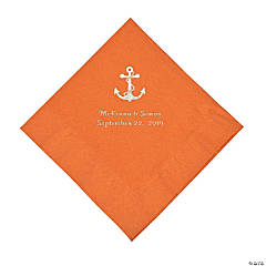 Pumpkin Spice Anchor Personalized Napkins with Silver Foil - Luncheon