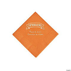 Pumpkin Spice Introducing Personalized Napkins with Silver Foil - Beverage