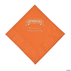 Pumpkin Spice Introducing Personalized Napkins with Silver Foil - Luncheon