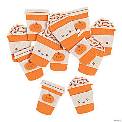 Pumpkin Spice Latte Self-Adhesive Shapes