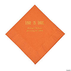 Pumpkin Spice Love is Love Personalized Napkins with Gold Foil - Luncheon