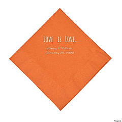 Pumpkin Spice Love is Love Personalized Napkins with Silver Foil - Luncheon