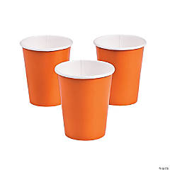 Pumpkin Spice Orange Paper Cups