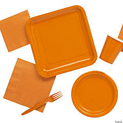 Pumpkin Spice Orange Tableware