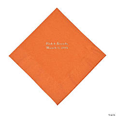 Pumpkin Spice Personalized Napkins with Silver Foil - Luncheon