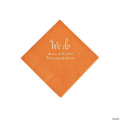 Pumpkin Spice We Do Personalized Napkins with Silver Foil - Beverage