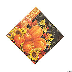 Pumpkin Tapestry Luncheon Napkins