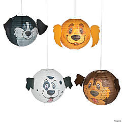 Puppy Party Hanging Paper Lanterns
