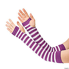 Purple & White Team Spirit Arm Sleeves