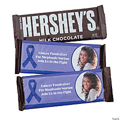 Purple Awareness Ribbon Custom Photo Candy Bar Wrappers