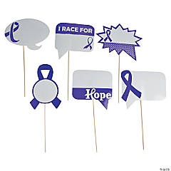 Purple Awareness Ribbon Dry Erase Photo Stick Props