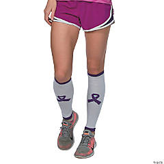 Purple Awareness Ribbon Leg Warmers
