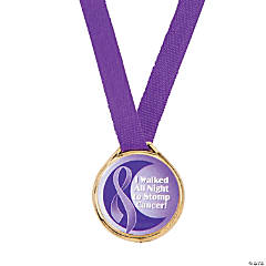 Purple Awareness Ribbon Medals