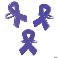 Purple Awareness Ribbon Rings