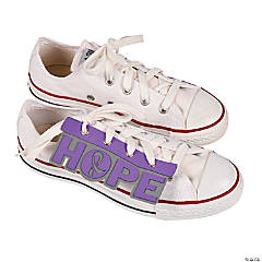 Purple Awareness Ribbon Shoe Accessories