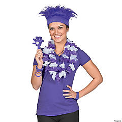 Purple Awareness Ribbon Superfan Costume Idea