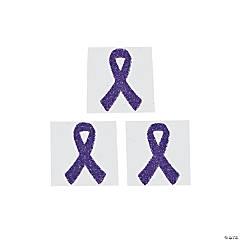 Purple Awareness Ribbon Tattoo Stickers