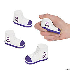 Purple Awareness Ribbon Tennis Shoe Stress Toys