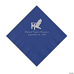 Purple Beach Chair Personalized Napkins- Luncheon