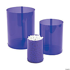 Purple Candy Buffet Cylinders
