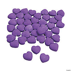 Purple Candy Hearts