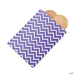 Purple Chevron Cake Bags