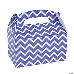Purple Chevron Favor Boxes