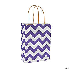 Purple Chevron Gift Bags