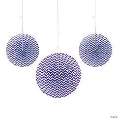 Purple Chevron Hanging Fans