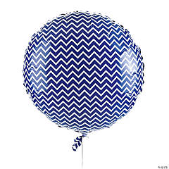 Purple Chevron Mylar Balloon