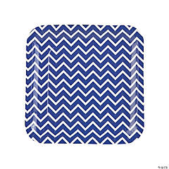 Purple Chevron Paper Dinner Plates