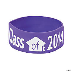 Purple Class of 2014 Big Band Bracelets