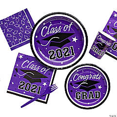 Purple Class of 2016 Graduation Party Supplies