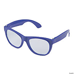 Purple Clear Lens Glasses
