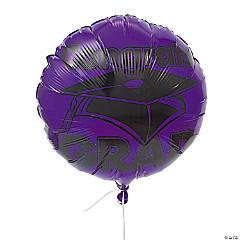 Purple Congrats Grad Mylar Balloons