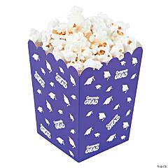 Purple Congrats Grad Popcorn Boxes