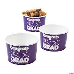 Purple Congrats Grad Snack Bowls