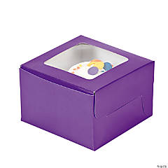Purple Cupcake Boxes