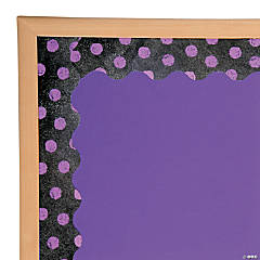 Purple Dots on Chalkboard Bulletin Board Border