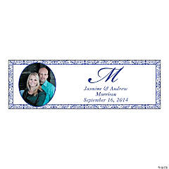 Purple Flourish Medium Custom Photo Banner