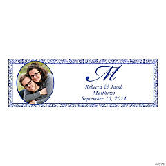 Purple Flourish Small Custom Photo Banner