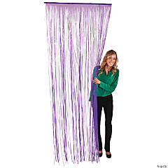 Purple Fringe Door Curtain