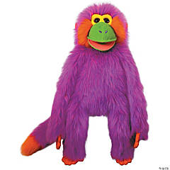 Purple Funky Monkey Plush Puppet