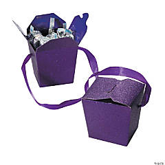 Purple Glitter Take Out Boxes