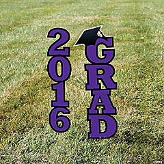 2016 Purple Grad Yard Sign